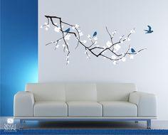Wall Decals Cherry Blossom with Birds  3 by singlestonestudio, $95.00