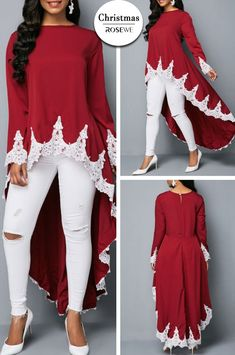 Ok we've got a lovely what I think is supposed to be dressy(? And some equally beautiful. holes in the knees? African Fashion Dresses, African Dress, Chic Outfits, Fashion Outfits, Womens Fashion, Trendy Tops For Women, Dress To Impress, Designer Dresses, Autumn Fashion