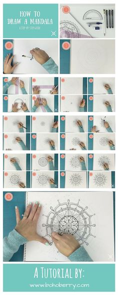 Get crafty. Learn how to draw a Mandala with this step-by-step guide! #springintoaction