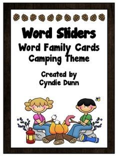 Word Family Word Sliders - Camping Theme