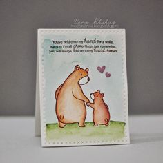 mama elephant clear stamps, bear hugs | love this stamp set so much!