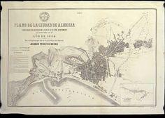 Plano de la ciudad de Almería (1864), por el capitán del Estado Mayor del Ejército Joaquín Pérez de Rozas