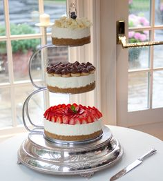 Thornton's multi-tiered wedding cheesecake