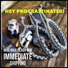 Still time to snag a custom MadMax no RUSH charge ships immediately now till December 20th  ΜΟΛΩΝ ΛΑΒΕ  #makeparacordgreatagain #paracord #tatical #gun #guns #molonlabe #dtom #2a #handmade #custom #madetoorder #madeintheusa www.knottydans.com