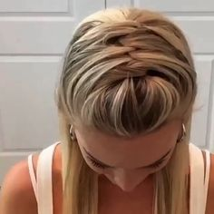 Hairdo For Long Hair, Easy Hairstyles For Long Hair, Up Hairstyles, Side Ponytail Hairstyles, Front Hair Styles, Medium Hair Styles, Hair Up Styles For Short Hair, Short Hair Bun, Great Hair
