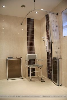 disabled shower layout