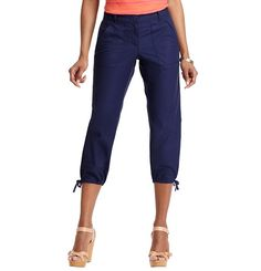 Petite Julie Cropped Pants in Textured Cotton | Loft