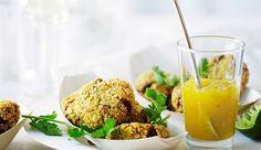 Recette de pastéis de crabe, sauce mangue-citron - chausson de pâte frite
