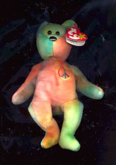 cb9c4b55c36 TY Beanie Baby Peace Bear retired only  10.00 on Bonanza Peace Beanie Baby