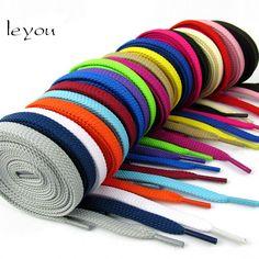 Leyou Nouvelle Sneaker Plat Lacets Randonnée Bottes Chaussures Cordes de Couleur  Lacets de Chaussures pour Sneakers 5e2d73ca1501