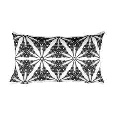 Paris Eiffel Tower - Kaleidoscope Art Throw Pillow (B&W)