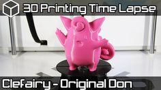3D Printing Time Lapse | Clefairy Pokemon | Airwolf 3D HDX 3D Printer Video