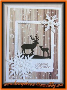 Happy New Year card – The Scrap – Christmas Christmas Christmas Homemade Christmas Cards, Christmas Cards To Make, Christmas Deer, Xmas Cards, Diy Cards, Homemade Cards, Holiday Cards, Happy New Year Cards, New Year Cards Handmade
