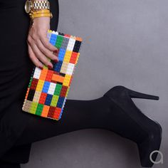 Multicolor clutch made entirely of LEGO bricks FREE by agabag