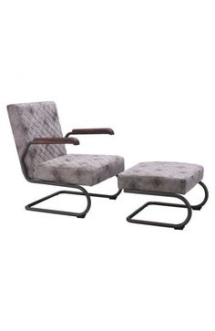 Father Lounge Chair - 100407Features: -Color : Vintage WhiteProduct Cover (Upholstery Material or Type of Metal) : LeatheretteProduct Finish (Structure Materiel or Type of Wood) : Distressed SteelDimensions :Chair : 22.8