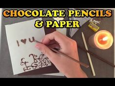▶ Love Chocolate Paper and Pencils Easy Dessert HOW TO COOK THAT Ann Reardon - YouTube