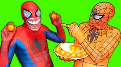 Spiderman vs ORANGE SPIDERMAN vs Joker vs Hulk vs Spidergirl vs Elsa - R...