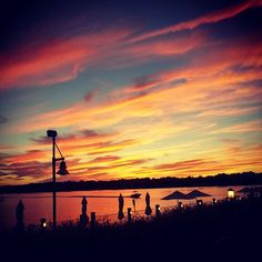 Sunset over Lake Macatawa, taken from Boatwerks Waterfront Restaurant!