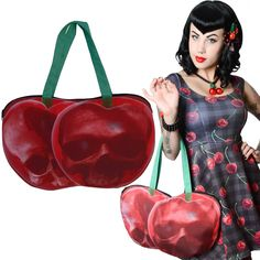 Loving this new Cherry Deathskull bag from Kreepsville 666! #psychobilly #rockabilly #skull #goth