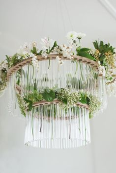 Wildflower chandelier by Shaye Woolford www.onmyhand.co.nz Photo by Claire Mossong
