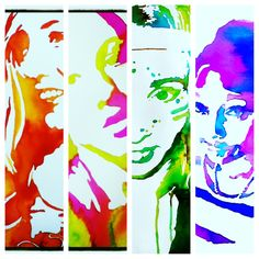color - great idea for year 9 to start looking at their face. in different angles. use of colour before self portrait Watercolor Portraits, Watercolor Art, High School Art Projects, 8th Grade Art, Street Art, School Painting, Portrait Art, Portrait Ideas, Middle School Art