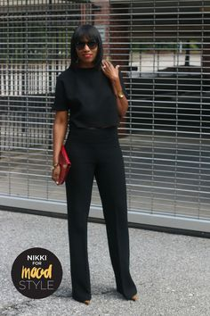 Wide Leg pants and high low top