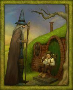 Meeting Gandalf by FrankVenice on deviantART