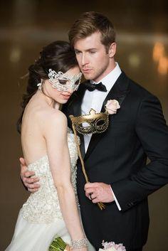 Casamento no Carnaval - máscara