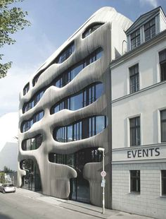 Unique Residential Building with Extraordinary Facade by J. MAYER H. Interesting Buildings, Amazing Buildings, Modern Buildings, Architecture Cool, Contemporary Architecture, Installation Architecture, Minimalist Architecture, Facade Design, Lofts