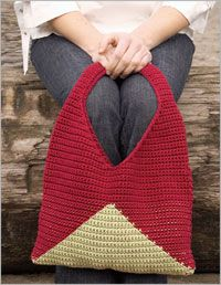 Raspberry and Lime Purse - Interweave