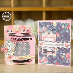 DIY Cards made with a Silhouette - how cute is the Oven?!