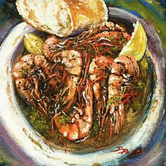 """Barbequed Shrimp"" by Dianne Parks - available through Fine Art America"