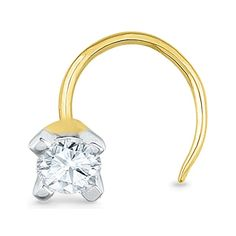 Jpearls 18kt Studded Nose Pin | Single Diamond Nose Pin