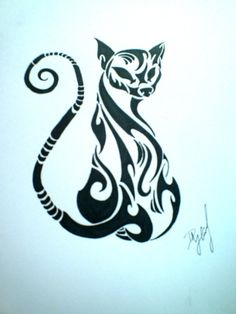Tribal Cat by ~My-World-Order