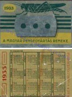 1933 - 1933_0001 - Régi magyar kártyanaptárak