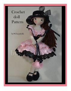Lacy crochet doll pattern от chepidolls на Etsy