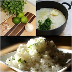 Garlic Lime Cilantro Rice How To, get the recipe here >> http://girlmeetsnourishment.com/gmnwordpress1/garlic-cilantro-lime-rice/