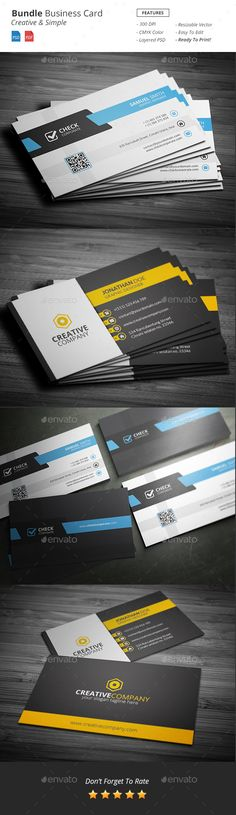 Bundle - Business Card Template PSD #design Download: http://graphicriver.net/item/bundle-business-card-template/13406569?ref=ksioks