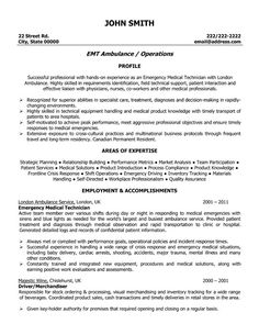 Firefighter Resume Examples Emergency Services Sample
