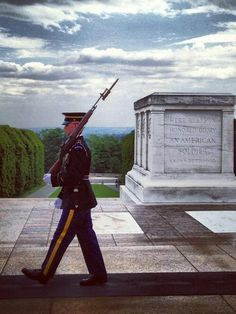 Changing of the Guard for Unknown Soldiers at Arlington - one of the most touching, Patriotic things I have ever seen.