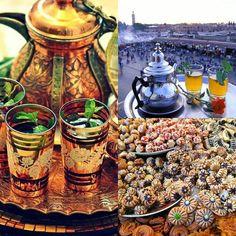 Moroccan mint tea and cookies