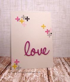 Jen Carter, Clearly Whimsy, Love Word, Get Well Soon, valentines, card