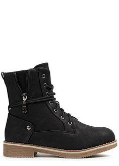 956347bff811ed Seventyseven Lifestyle Damen Schuh Stiefelette Worker Boots Kunstleder old  rose