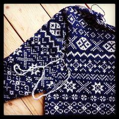 stranded knitting sweater