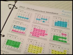 Homeschool Calendar Options - right now I'm thinking of doing 45 days days off with 2 extra weeks for summer, 2 extra weeks for sporadic breaks and 2 extra weeks for sick days. School Plan, School Ideas, School Calendar, Too Cool For School, Home Schooling, Homeschool Curriculum, School Organization, Kids Education, How To Plan
