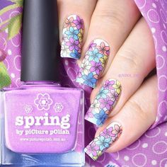 piCture pOlish = Nina aka @nina_d83 wearing Spring + lots of other PP colours! WOWZA thanks Nina ❤️ www.picturepolish.com.au