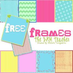 FREE on TpT:  Valentine's Day Colorful Frames by The 3AM Teacher #valentine #spadelic
