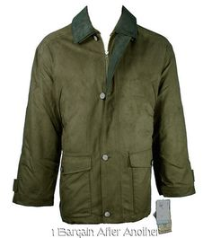 New National Geographic Men Cold-Weather Insulated MicroSuede Barn Jacket Medium STAY WARM IN THE COLD!