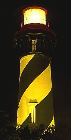 Lit Lighthouse