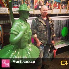 RG @artbankau: Artist Will Coles visits his #sculpture 'ANZAC' #artbankreunion #instaseries #artbanksocialclub @mrwillcoles